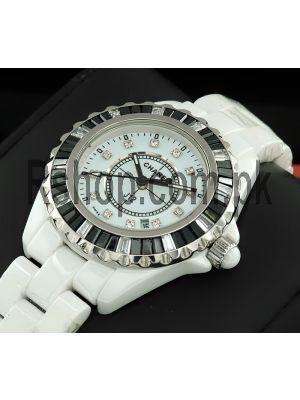 Chanel J12 White Ceramic Diamond Ladies Watch Price in Pakistan