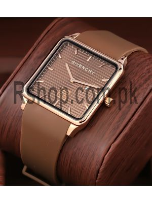 Givenchy Brown Square Ultra Slim Watch Price in Pakistan