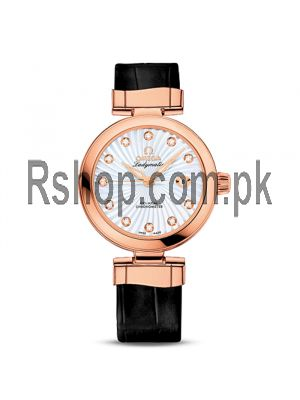 Omega Ladymatic white Dial-Leather Strap Watch Price in Pakistan