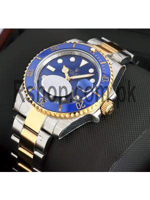 Rolex Submariner Blue Dial Two Tone Watch (Swiss Quality ETA Movement 2836) Price in Pakistan