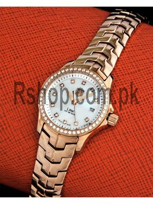Tag Heuer Link White Mother of Pearl Diamond Ladies Watch Price in Pakistan