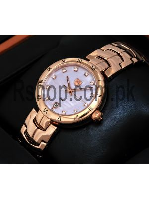 Tag Heuer Lady Link Rose Gold Bracelete Pink Dial Watch Price in Pakistan