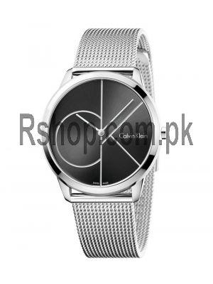 Calvin Klein Minimal Stainless Steel Strap Black Dial Watch Price in Pakistan