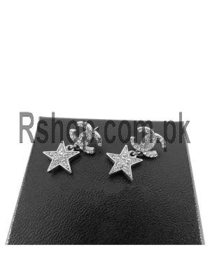 Chanel CC Logo Silver Drop Star Earrings Price in Pakistan