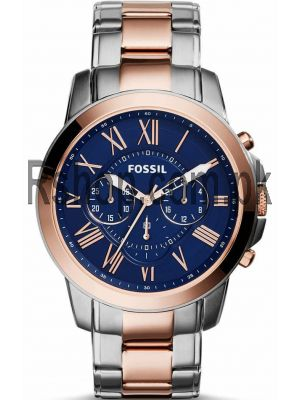Fossil Grant Chronograph Blue Dial Two-tone Men's Watch Price in Pakistan