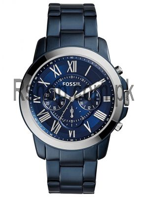 Fossil Nate Blue Steel Band Chronograph Watch FS5230   (Same as Original) Price in Pakistan