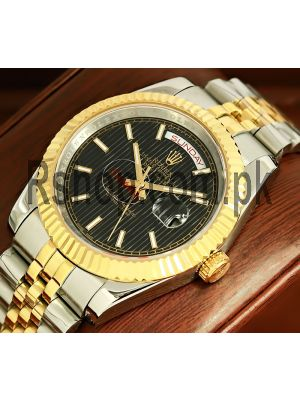 Rolex Day-Date Two Tone Stripe Index Dial Watch Price in Pakistan