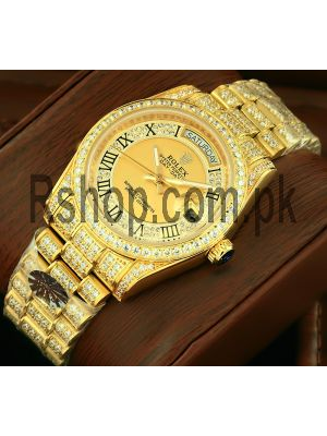 Rolex President Day-Date Gold Diamond Watch