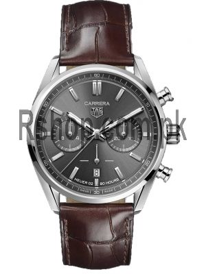 Tag Heuer Carrera Calibre Heuer 02 42mm Grey Chronograph Watch