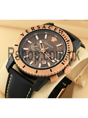 Versace V-Chrono Brown Dial Watch Price in Pakistan