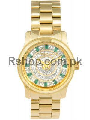 Michael Kors Women's Runway Gold-Tone Replica Watches,